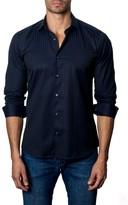 Jared Lang Men's Trim Fit Stripe Sport Shirt