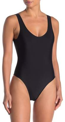 KENDALL + KYLIE Scoop Neck Low Back One-Piece Swimsuit