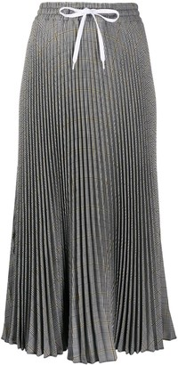 Miu Miu Prince of Wales pleated midi skirt