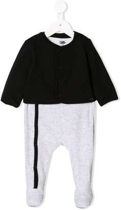 Karl Lagerfeld Paris Logo Print Pajamas With Cardigan
