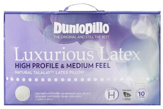 Dunlopillo Luxurious Latex Pillow - High Profile & Medium Feel No Colour