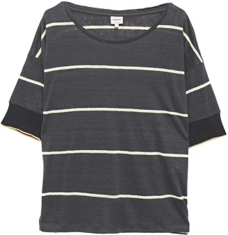 Charli Striped Slub Linen-jersey Top