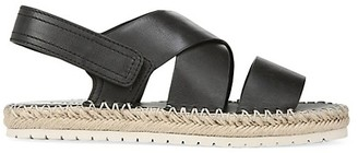 Vince Tenison Leather Platform Slingback Sandals