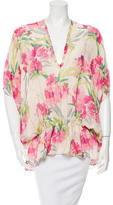 Elizabeth and James Floral Silk Top