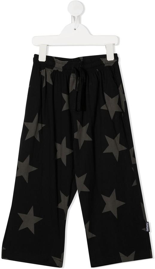 Nununu Star-Print Wide-Leg Trousers