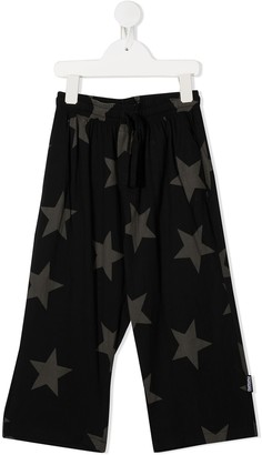 Nununu Star-Print Wide-Leg Trousers