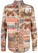 Valentino Box Sigar print shirt - men - Cotton - 40