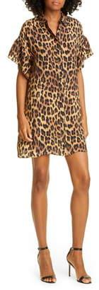 Alice + Olivia Jude Leopard Print Tunic Dress