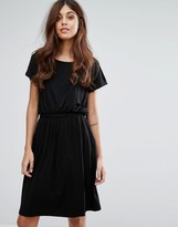Warehouse T-Shirt Dress With Ruched Waist