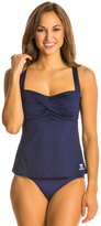 TYR Solid Twisted Bra Tankini Top 30762
