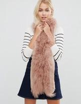 Urban Code Urbancode Faux Fur Mix Skinny Scarf