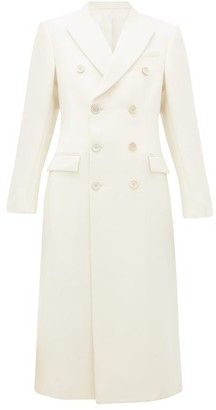 Wardrobe NYC Release 05 Double-breasted Merino-wool Coat - White