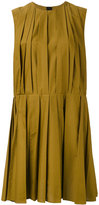 Marni pleated shift dress - women - Cotton - 40