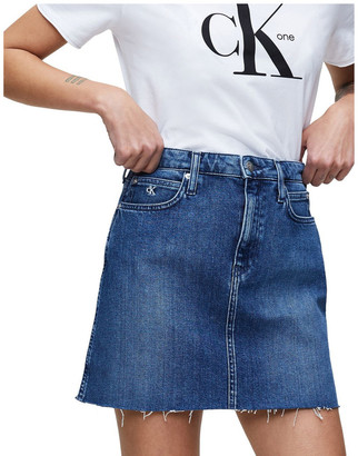 Calvin Klein Jeans High Rise Mini Skirt Mid