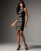 Lace-Inset Sleeveless Dress