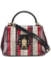 Dolce & Gabbana Lucia striped shoulder bag