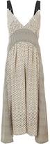 Proenza Schouler Silk Block Print Cami Dress