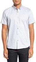 Ted Baker 'Jamshor' Modern Trim Fit Short Sleeve Sport Shirt