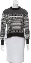 Veronica Beard Intarsia High-Low Sweater