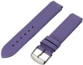 Philip Stein Teslar 1-CLA 18mm Leather Calfskin Purple Watch Strap