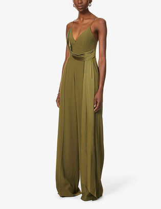 Alex Perry Harlow draped woven jumpsuit