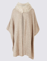 Marks and Spencer Faux Fur Knitted Wrap