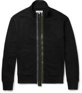 Maison Margiela Cotton-jersey Zip-up Sweatshirt - Black
