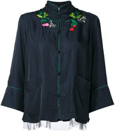 Muveil embroidered jacket - women - Cupro/Tencel - 38