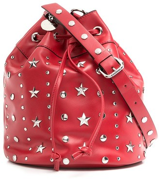 RED Valentino RED(V) stud-embellished bucket bag
