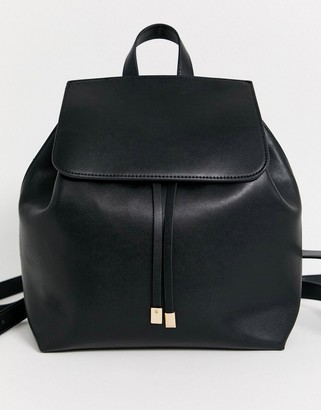 Truffle Collection black foldover backpack