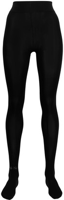 Wolford Logo Sparkle Opaque Tights