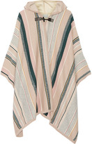 Maiyet Leather-trimmed Striped Cashmere-blend Cape - Beige