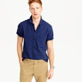 J.Crew Short-sleeve camp-collar shirt in lightweight chino