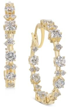 "Eliot Danori Medium Cubic Zirconia Hoop Earrings, 1.25"", Created for Macy's"