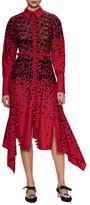 Proenza Schouler Embroidered Collared Midi Dress