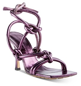Bottega Veneta Women's Metallic Leather High-Heel Sandals