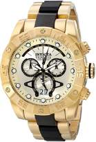 Invicta Men's Arsenal/Reserve Chronograph 18k Gold Plated and Black Polyurethane