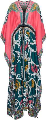 Mary Katrantzou Draped Printed Cotton And Silk-blend Voile Kaftan