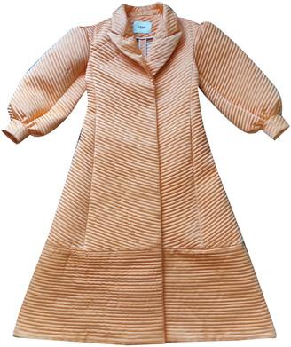 Fendi Orange Silk Trench coats