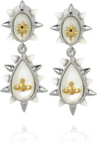 Vivienne Westwood Mourning mother of pearl earrings