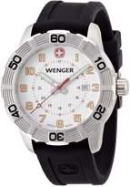 Wenger Roadster Men's Quartz Watch with Dial Analogue Display and Black Silicone Strap 010851104