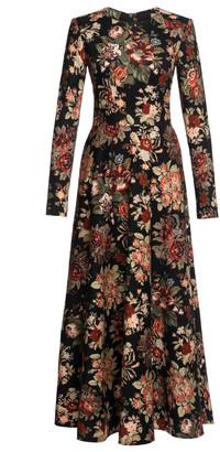 Lena Hoschek Aida Floral Jacquard Cotton-Blend Midi Dress