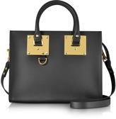 Sophie Hulme Black Albion Saddle Leather Medium Tote Bag