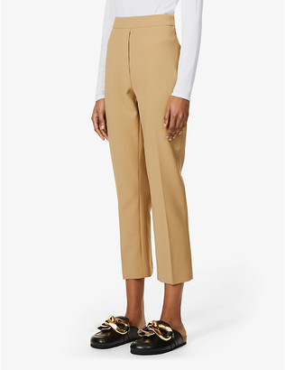Camilla And Marc Bailey tapered high-rise wool-blend trousers