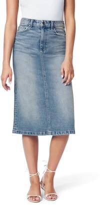 Joe's Jeans The A-Line Cutoff Denim Pencil Skirt