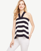 Ann Taylor The Striped Halter Sweater