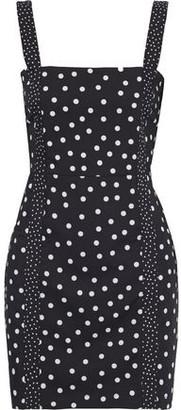 Solid & Striped Polka-dot Broadcloth Mini Dress