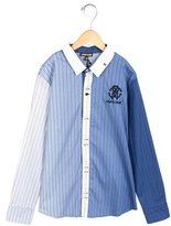 Roberto Cavalli Boys' Striped Button-Up Shirt w/ Tags