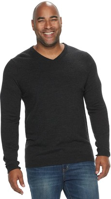 Apt. 9 Big & Tall Slim-Fit Merino Blend Knitted Pullover Sweater