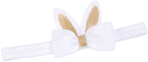 Jean Marie White & Gold Bunny Bow Headband